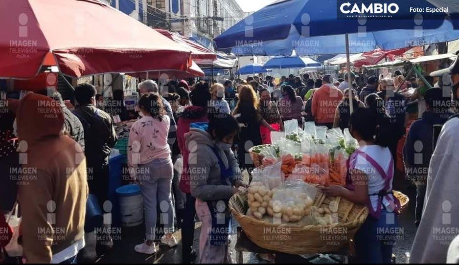 Claudia falla una vez más: ambulantes atascan en Centro Histórico en medio de pandemia