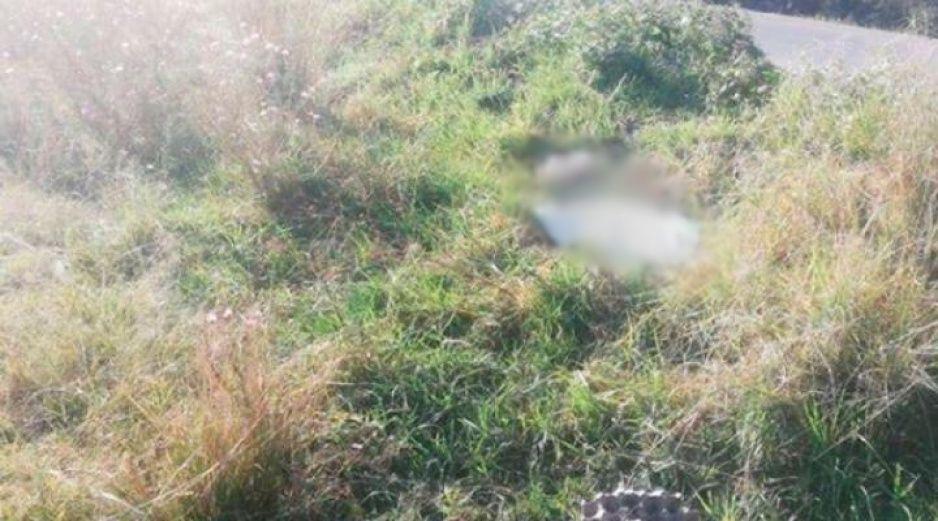 ¡Macabro hallazgo! Localizan cadáver encobijado en terrenos de cultivo de Huejotzingo