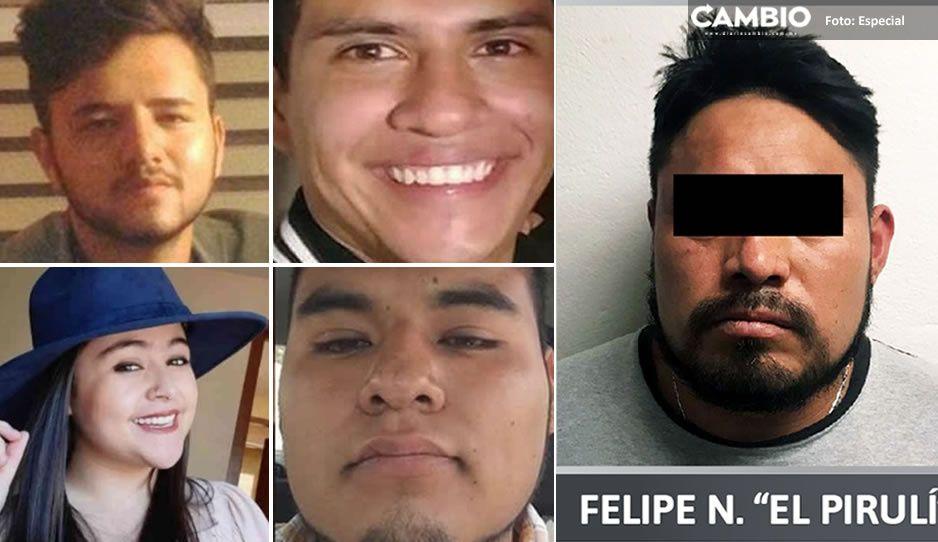 Él es El Pirulí, asesinó a los tres estudiantes de medicina y conductor de Uber