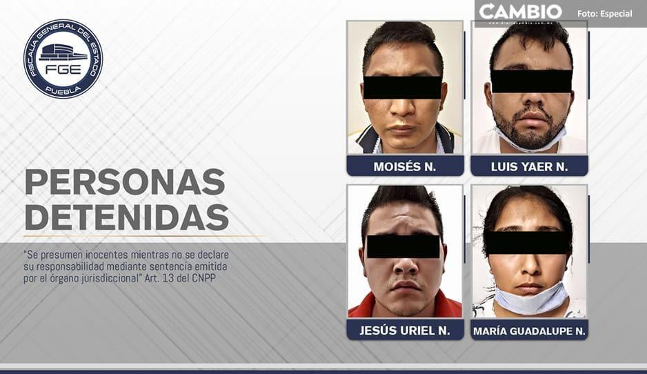 Rescatan a joven secuestrado y detienen a cuatro plagiarios en Tehuacán