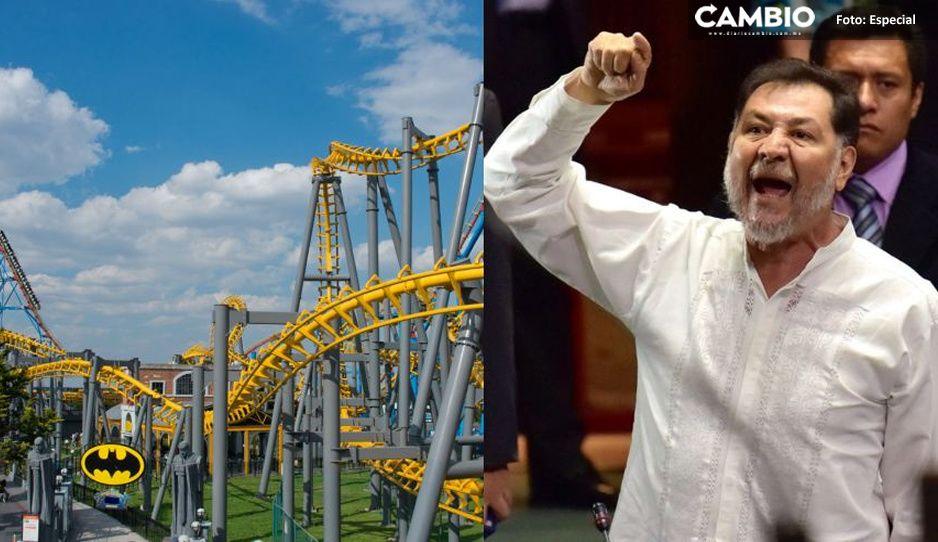 """Fernández Noroña explota contra Six Flags y los califica de """"criminales"""""""