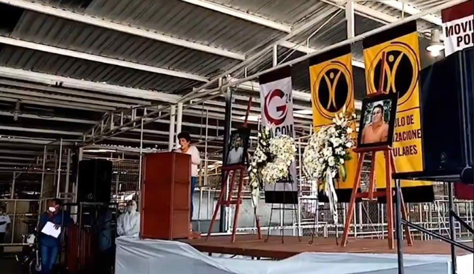 Tras riña interna al interior del COP, rinden homenaje a sus caídos en Texmelucan