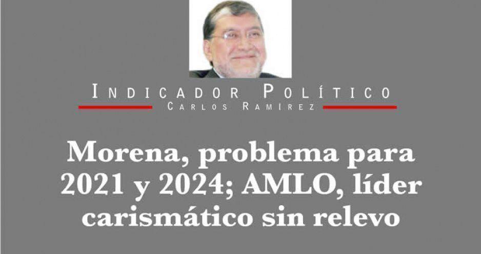 Morena, problema para 2021 y 2024; AMLO, líder carismático sin relevo