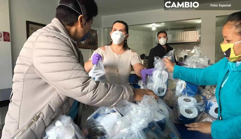 Norma Layón entrega despensas a quienes  más lo necesitan en San Martín Texmelucan