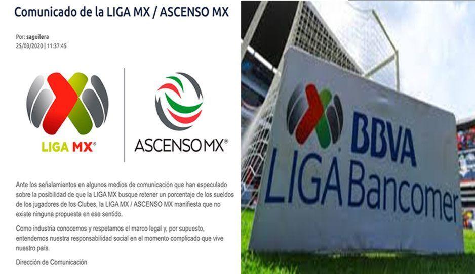 Liga MX descarta retener sueldo de jugadores por Covid-19