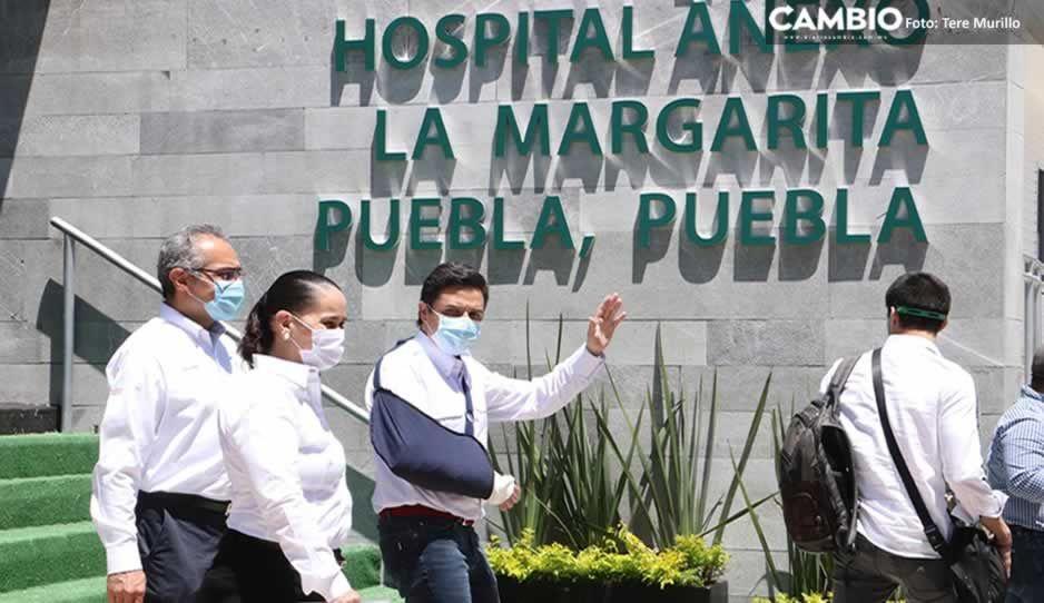 Zoé Robledo sólo supervisa más no inaugura el módulo temporal La Margarita