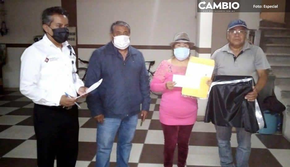 Entrega el Ayuntamiento de San Pedro  Cholula cenizas de paisanos repatriados