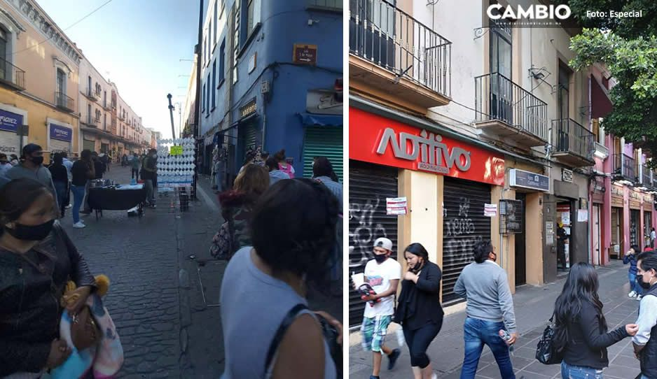 Ambulantes burlan a Claudia y se instalan en la 5 de Mayo; Consejo de Comerciantes dice que no hay piso parejo