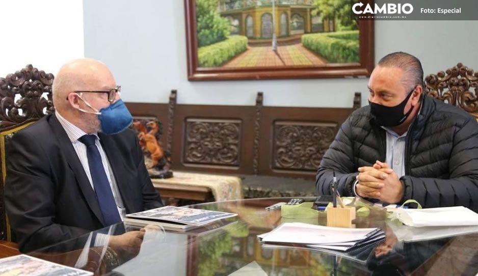 El turismo está de vuelta; embajador de Paraguay se reúne con Guillermo Velázquez en Atlixco