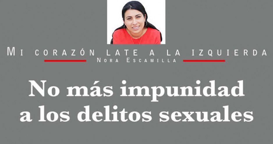 No más impunidad a los delitos sexuales