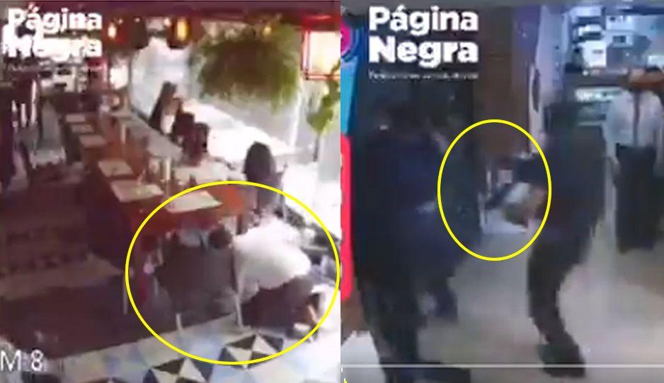 Detienen dos en restaurante Siciliano de La Paz; clientes se llevaron tremendo susto (VIDEO)