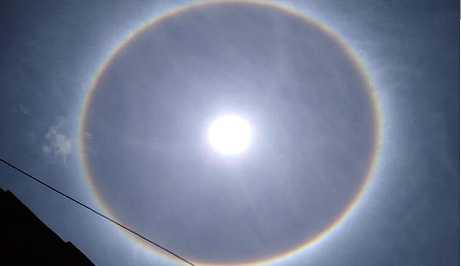 FOTOS: Aparece halo solar en Sierra Norte de Puebla, tras sismo de 7.5 ¿es una señal?