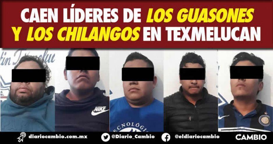 Caen líderes de Los Guasones y Los Chilangos en Texmelucan
