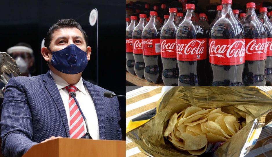 Armenta pide a empresas no se pasen de azúcar y grasas en refrescos y comida chatarra