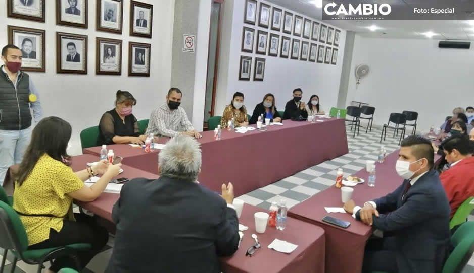 Encabeza Norma Layón reunión de trabajo  distrital por el COVID-19 en Texmelucan