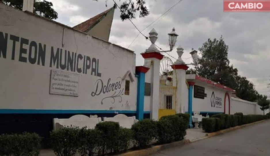 A partir de este jueves, cerrarán panteones de San Martín Texmelucan