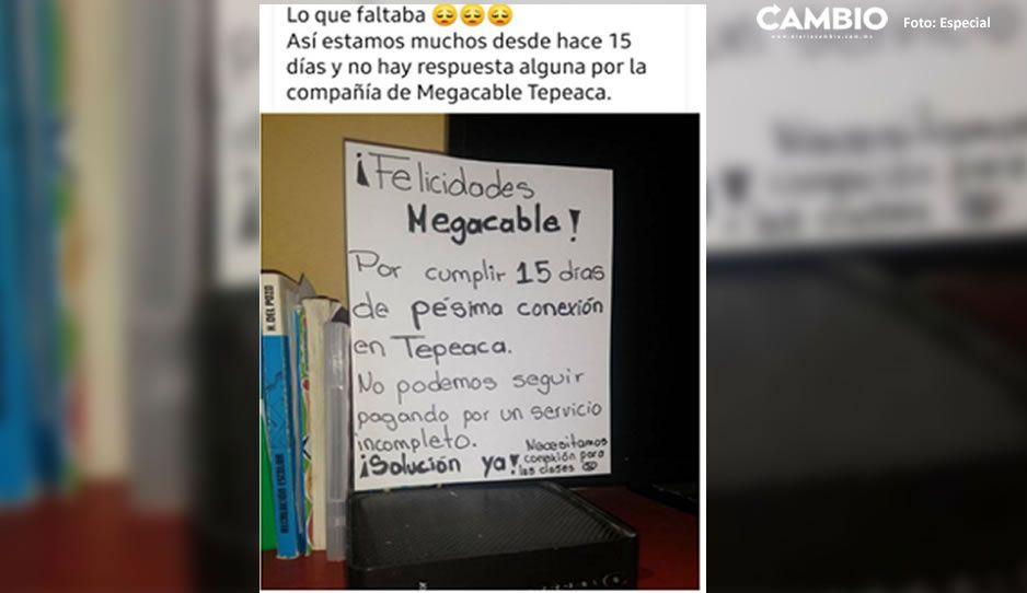 Otra más de Megacable: deja sin clases e internet a niños en Tepeaca