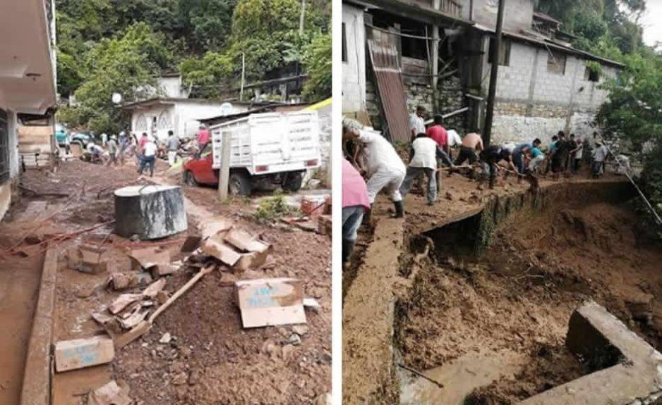 Piden ayuda tras las afectaciones de las lluvias en la Sierra Norte de Puebla