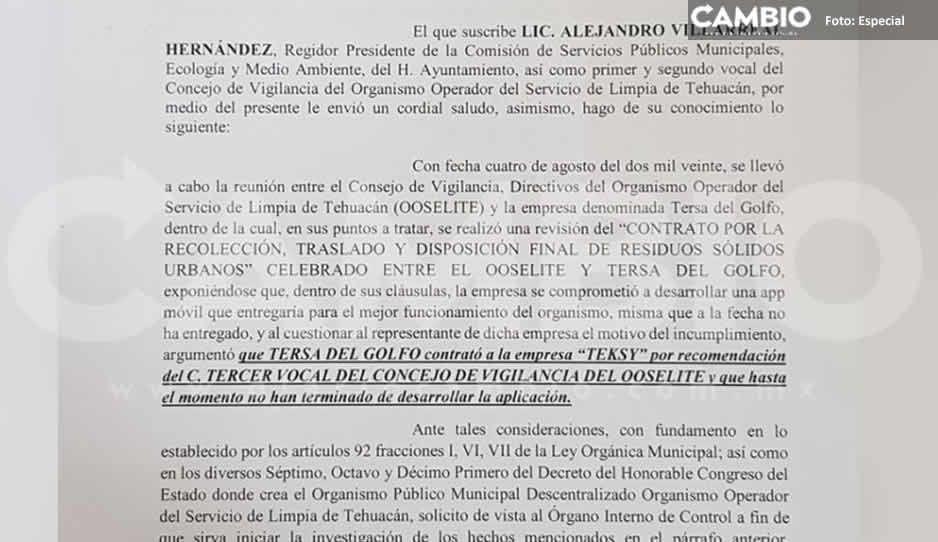 Acusan a líder de Coparmex Tehuacan de favorecer a empresa para obtener contrato