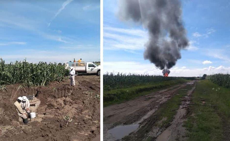 Continúa sellado de fuga de gas en Acajete