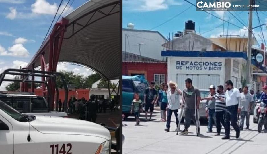 Elementos de PEP impiden linchamiento de discapacitado ladrón en Izucar de Matamoros
