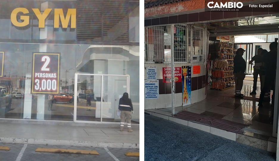 Acata Cabildo de Cuautlancingo decreto estatal para el cierre temporal de establecimientos