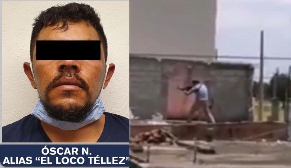 El Loco Téllez intentó escapar por azoteas en Apizaco (VIDEO)