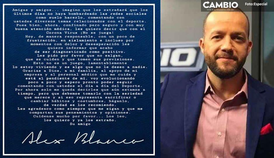Alejandro Blanco conductor de Fox Sports México da positivo por coronavirus