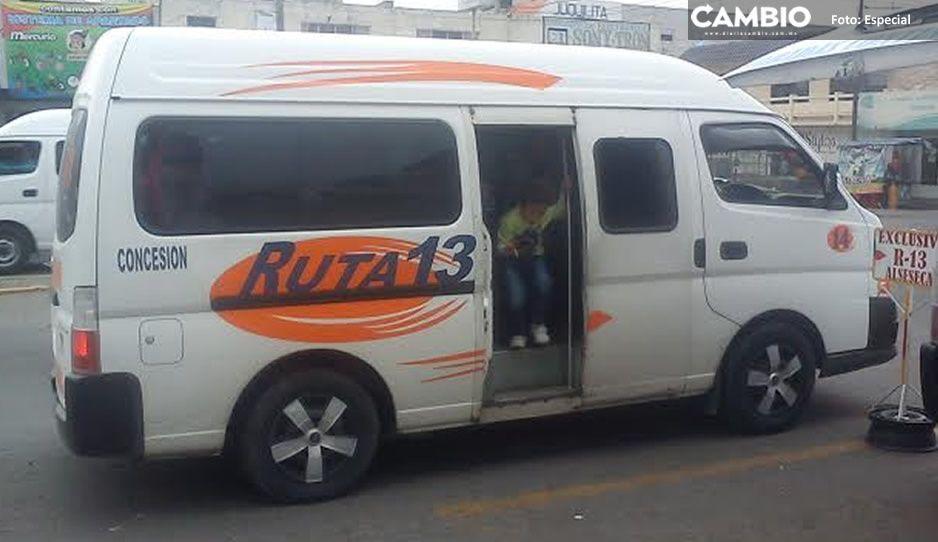 Primero la salud: rateros con cubrebocas atracan a pasajeros de la ruta 13 en Tecamachalco