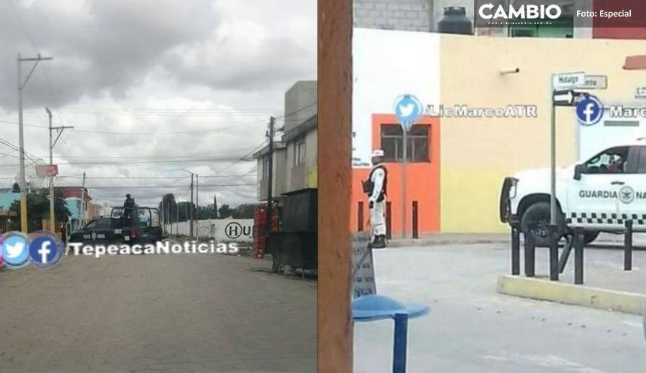 Guardia Nacional y Policía Federal realizan megaoperativo en Tepeaca; buscan capturan a un líder delincuente
