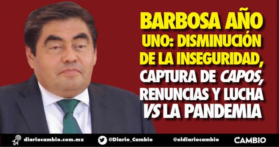 Barbosa año uno: disminución de la inseguridad, captura de capos, renuncias y lucha vs la pandemia