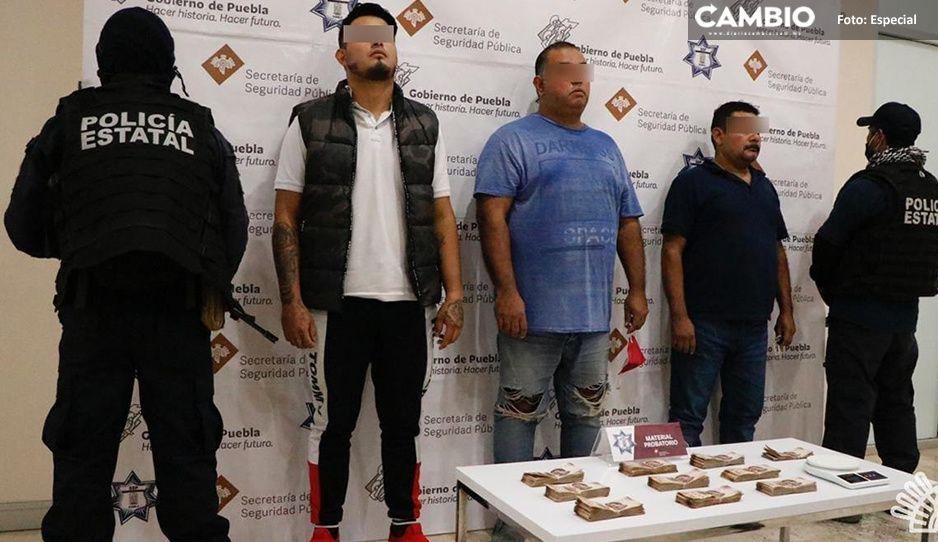 Detienena tres por casi medio millón de pesos ilegales en Orizaba–Puebla