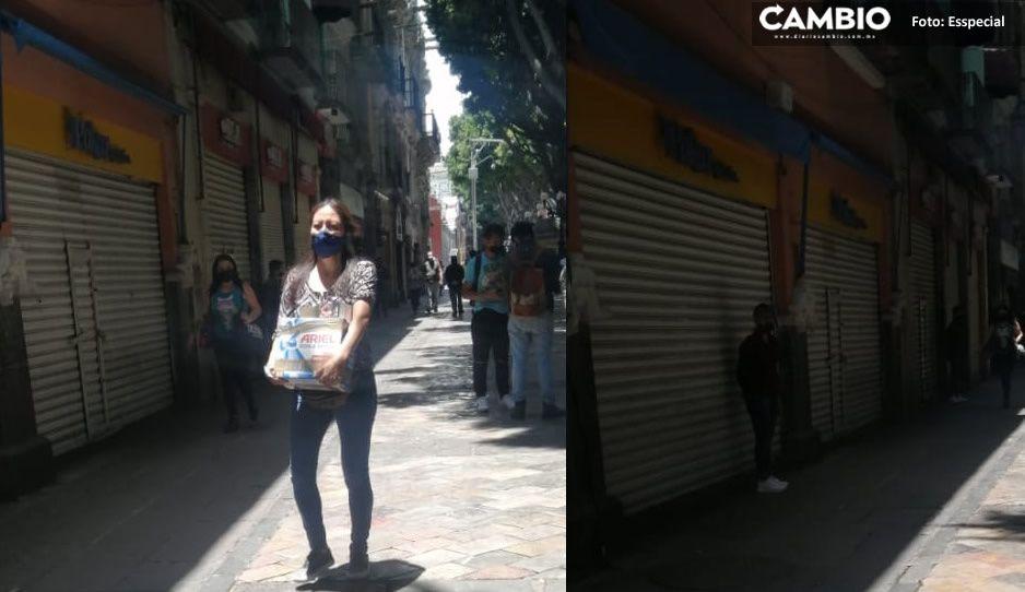 Locatarios del Centro Histórico operan clandestinamente ante la pandemia