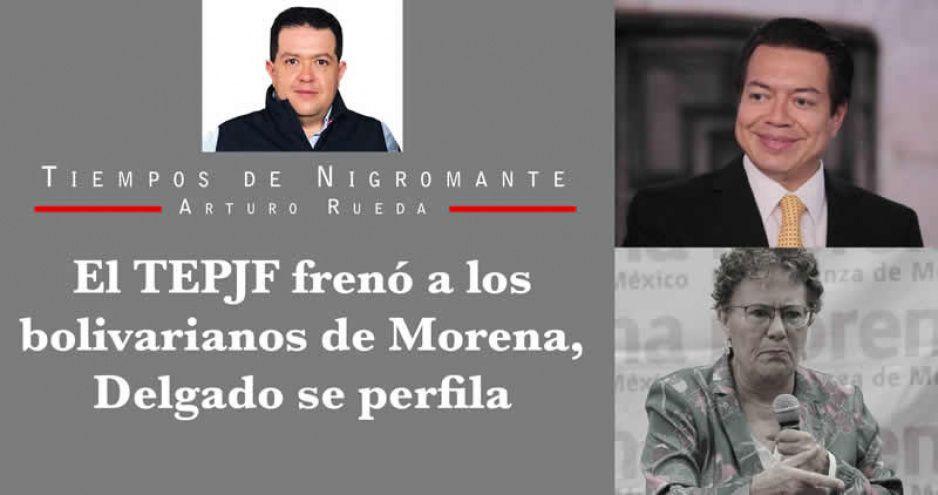 El TEPJF frenó a los bolivarianos de Morena, Delgado se perfila