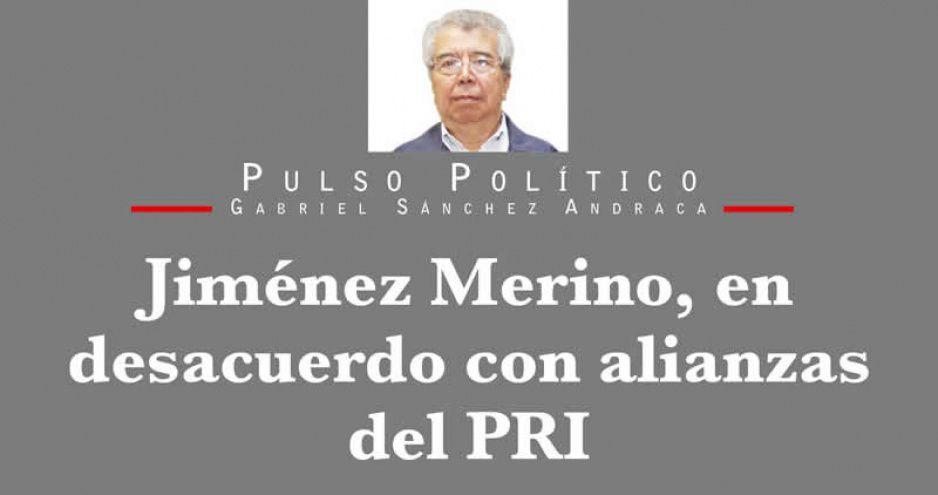 Jiménez Merino, en desacuerdo con alianzas del PRI