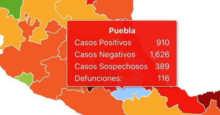 Aumentan a 72 los muertos por Covid en Puebla escondidos por AMLO