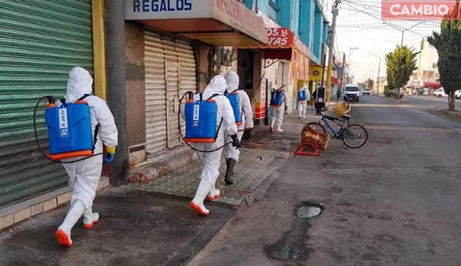 Ayuntamiento sanitiza mercados y sitios públicos en Tepeaca