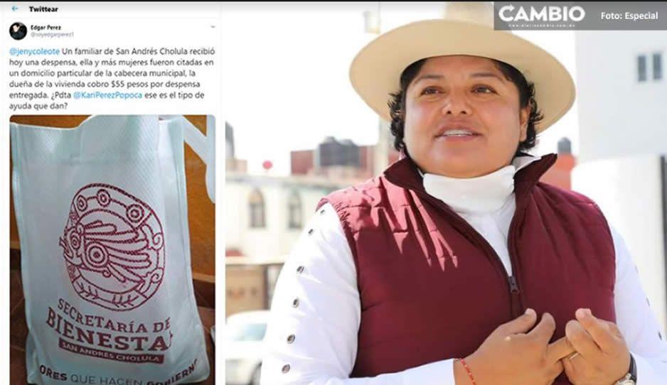 Ayuntamiento de Karina Pérez en San Andrés sí vende despensas al 15 por ciento de su valor real