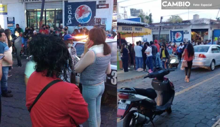 Comerciantes de temporada de Todos Santos inconformes con la entrega de espacios en Atlixco