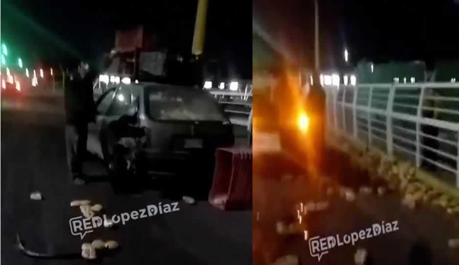 Borrachos chocan contra auto de panadero en Tlaxcalancingo