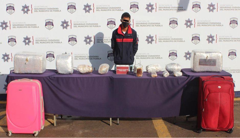 Capturan a narcomenudista con 30 kilos de marihuana en la CAPU