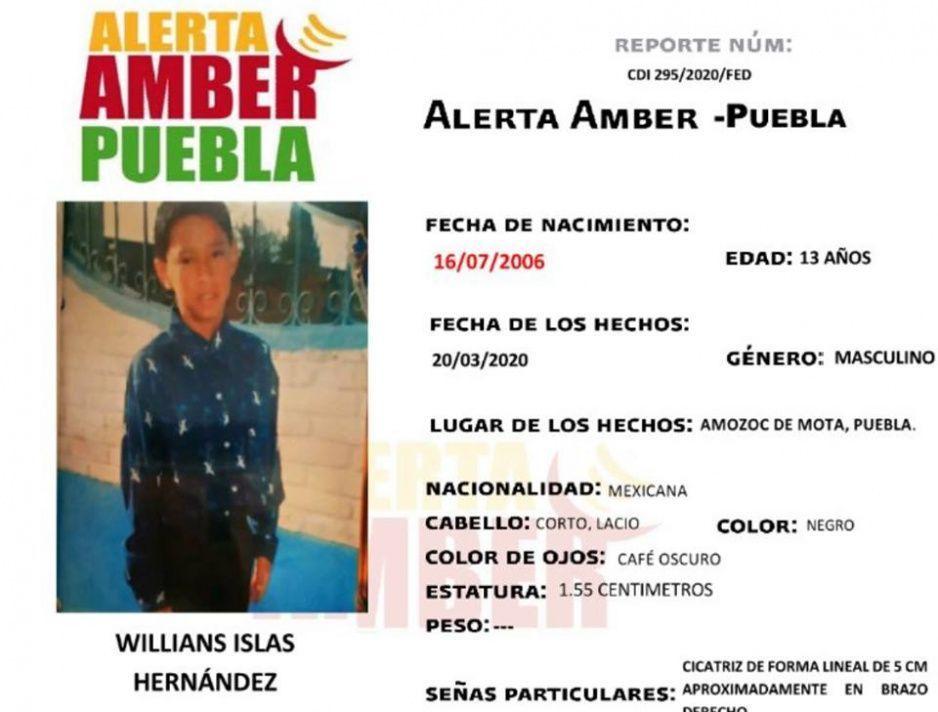Desaparece Willians de 13 años en Amozoc, no saben nada de su paradero desde el 20 de marzo ¡Ayuda a encontrarlo!