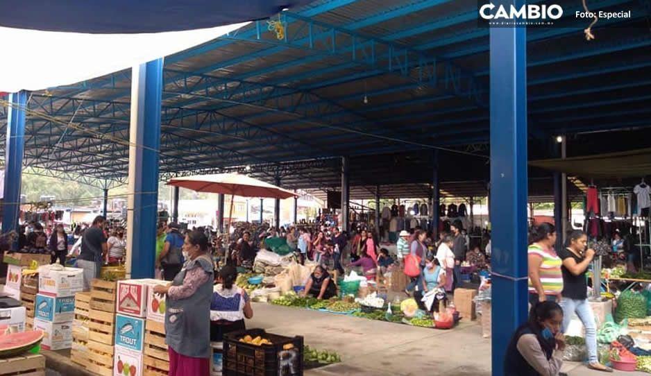 Recapacita Ecoloco Vargas y suspende actividades del mercado 5 de Mayo por más brotes de Covid en Huauchinango