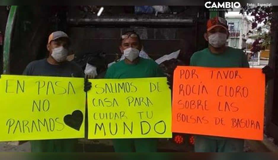 Trabajadores de limpia piden rociar con cloro las bolsas de basura para evitar contagiarse de COVID-19