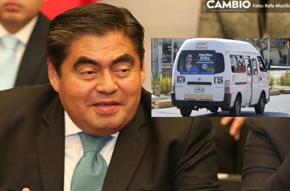 Adiós basura electoral: Barbosa envía reforma para prohibir propaganda en el transporte público y espectaculares
