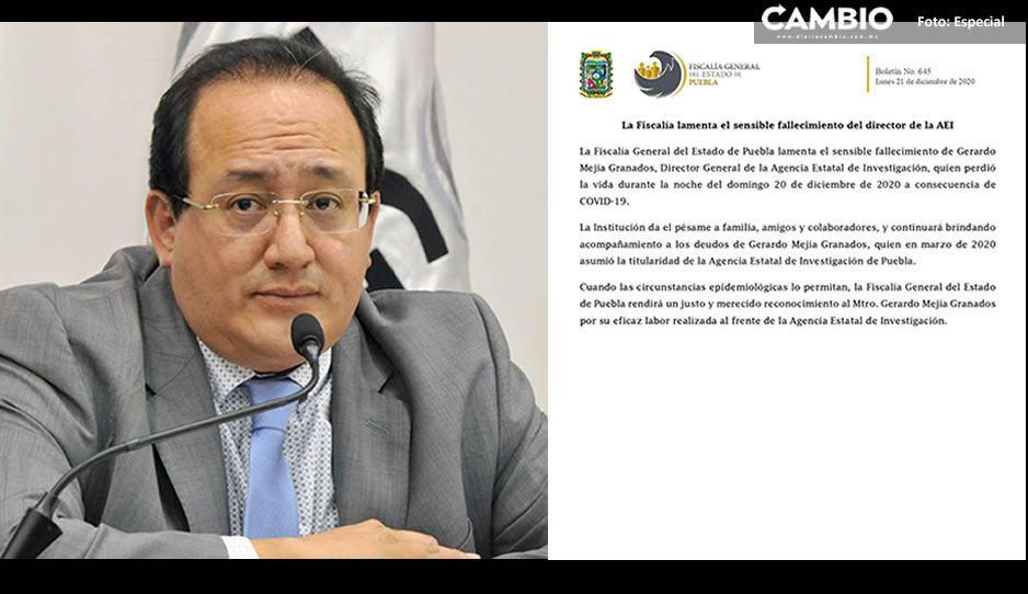 En cuanto la pandemia lo permita, se rendirá un merecido homenaje a Gerardo Mejía: FGE