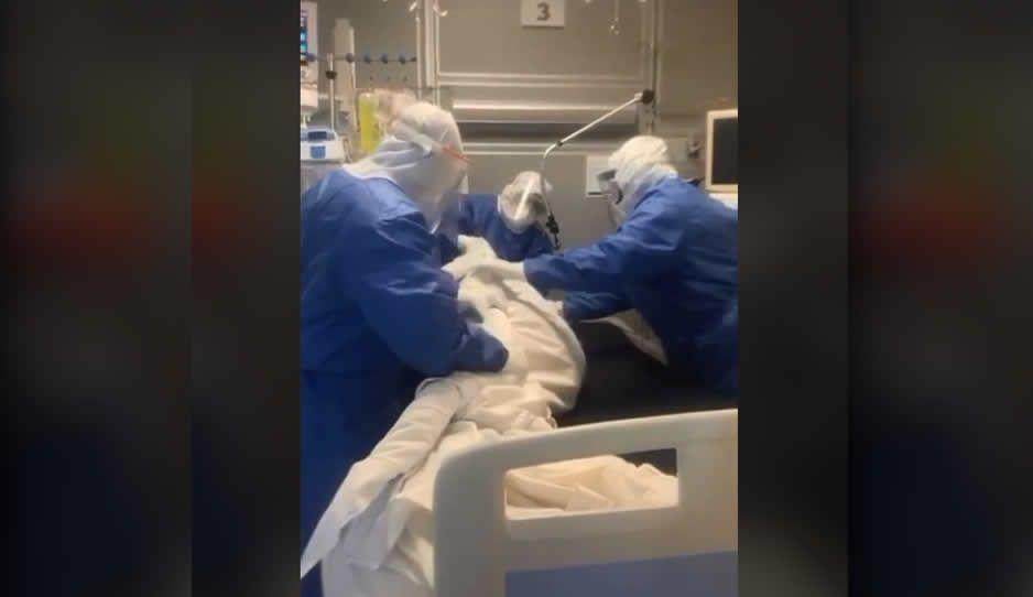 VIDEO: Así el sufrimiento de las enfermeras heroínas del ISSSTE salvando a intubado por Coronavirus