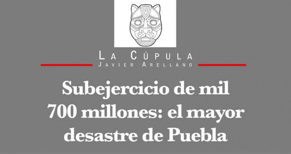 Subejercicio de mil 700 millones: el mayor desastre de Puebla