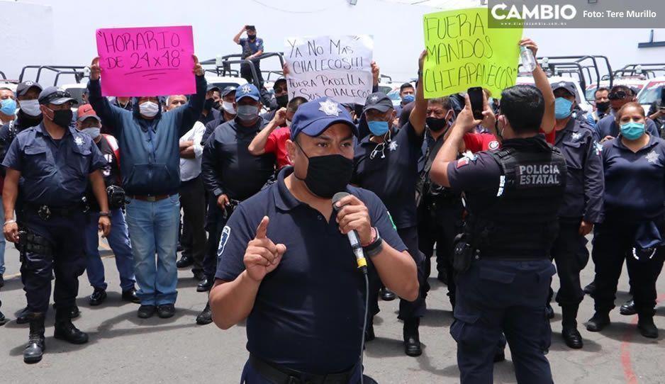 Se divide la Policía Estatal: 400 uniformados rebeldes siguen en paro y rechazan aumento salarial