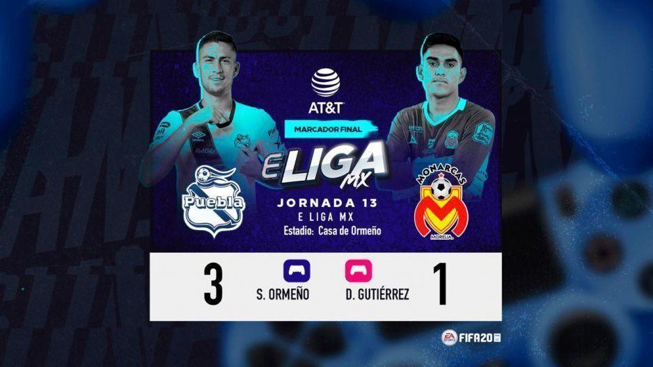 Puebla regresa a la senda del triunfo al derrotar 3-1 a Morelia en la eLiga